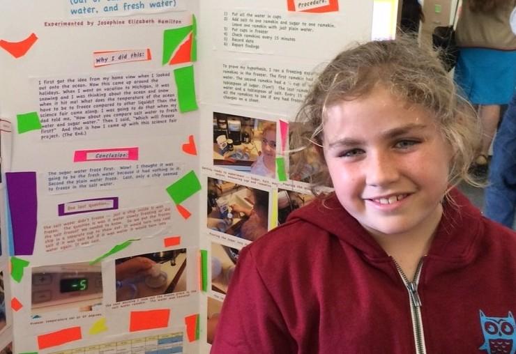josie at science fair